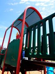 P5300557 (photos-by-sherm) Tags: corona ca california spring public park playground swings jungle gym slides