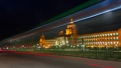 "Bangalore Nights [Vidhana Soudha] (""The Wanderer's Eye Photography"") Tags: 2017 bangalore canoneos450d canoneosdslr canoneosrebelxsi digitalphotography dusk governmentbuilding india karnataka karnatakatourism photography rubenalexander susanalexander thewandererseyephotography time twilight vidhansoudha workisworship architectural architecture building buildings capital cities city cityscape dark destinations exterior famous government hour illuminated interest landmark light lighttrails lights night nightphotography outdoors place power rush scape secratariat skyline street tourism traffic trail trails travel view"