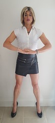 At peace (Juliette Noir) Tags: trans tg tv cd crossdresser crossdress transvestite transgender leather skirt