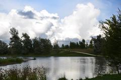 """Ciel orageux sur le lac. (Brigitte .. . """"Tatie Clic"""") Tags: 2014072014 juilet été lac paysage ciel nuage soirée soir arbre refletsdansleau agen boé sansretouche lotetgaronne aquitaine francesudouest cielorageux"""