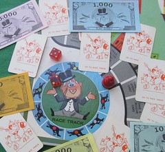 Go For Broke (TedParsnips) Tags: game boardgame selchowrighter goforbroke kidsgames 1960s 60s sixties millionaire horseracing horserace racetrack dice horse jockey stock stockphoto stockimage