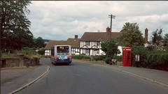 TWM 1341 Tong, Shropshire, 1996 (Lady Wulfrun) Tags: twm volvo b10 1341 tong shropshire 7th july 1996 891 891a