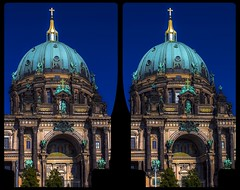 Berliner Dom 3-D / CrossEye / Stereoscopy / HDR / Raw (Stereotron) Tags: berlin spreeathen mitte metropole hauptstadt capital metropolis brandenburg city urban architecture belleepoque baroque barock europe germany crosseye crosseyed crossview xview cross eye pair freeview sidebyside sbs kreuzblick 3d 3dphoto 3dstereo 3rddimension spatial stereo stereo3d stereophoto stereophotography stereoscopic stereoscopy stereotron threedimensional stereoview stereophotomaker stereophotograph 3dpicture 3dglasses 3dimage hyperstereo twin canon eos 550d yongnuo radio transmitter remote control synchron kitlens 1855mm tonemapping hdr hdri raw