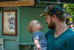 mutual admiration society (Pejasar) Tags: june 2017 silverdollarcity missouri baby fatherandson grandson family trip fun love