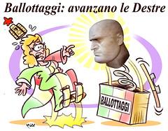 "Eja Eja Ballottà! (Moise-Creativo Galattico) Tags: editoriali moise moiseditoriali ""editorialiafumetti"" giornalismo attualità satira vignette destra ballottaggi ventennio duce"
