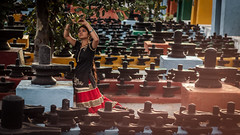 In Service Of God - Kolar, India (Kartik Kumar S) Tags: model golden light sunset 50mm 600d canon crore karnataka kolar linga shiva temple kotilingeshwara