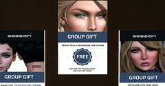 Group Gifts @ Session Skins! (Fierce Nerd Posse Photography) Tags: firestorm secondlife free freebies group gifts catwa session skins appliers blush cosmetics tattoos eyeliners sl fabfree secondlife:region=kunstsecondlifeparcelsessionskinssecondlifex120secondlifey204secondlifez33