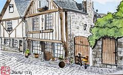 La France des Sous-Préfectures 22 (chando*) Tags: aquarelle watercolor croquis sketch france