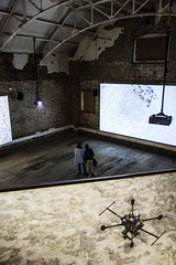 Watching & being watched (marktmcn) Tags: watching being watched observors observed screens warehouse screening screened exhibition drone couple projections projection projected down roof interior peckham london dsc rx100 looking