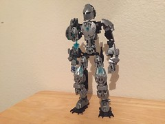 Imhotep V2 (xFlashDx) Tags: lego bionicle 2017 technic action figure toy ccbs constraction blue light silver grey gray black knight lightning electric