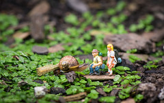 hiking (Tatterededges) Tags: snail preiser hoscale toyphotography