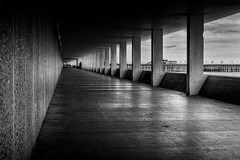 Hastings Seafront (TD2112) Tags: mono blackandwhite bottlealley converginglines blackwhite concrete walls ceiling slabs tonyduke