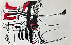 Jim Harris: Untitled. (Jim Harris: Artist.) Tags: art arte kunst konst maalaus ink abstract abstraction abstrakt avantgarde red black white zeichnung tegning