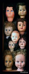 Collection particulière (2) (Milucide !) Tags: poupées têtes yeux cheveux collection