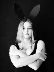 Girl with Rabbit Ears (tarmo888) Tags: sel18200 sonyalpha sonyα nex7 geotaggedphoto geosetter photoimage фотоfoto vertical indoor year2017 ukraine україна ukrayina украи́на украина lviv lwów lvov lemberg львів львов leopolis lwow highcontrastmonochrome pictureeffect monochrome highcontrast lowkeylighting playboy bunny people девушка naine krasotka curvychick curvybody curvybabe hotwoman holdingboobs portrait artstudiopassage