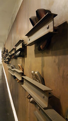 Untitled by Jannis Kounellis at Dante Metro station, Naples, Italy (SomePhotosTakenByMe) Tags: kunst art ubahn metro subway station stazionidellarte artstationsofthenaplesmetro italy italien naples napoli neapel city stadt innenstadt downtown indoor dante janniskounellis kounellis untitled stahlträger steelbeam steel kurios outoftheordinary schuh shoe