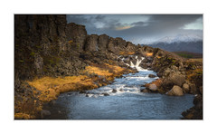 The water from within (Andreas Larzon Photography) Tags: andreaslarzon iceland waterfall lava lavarocks sigma1835mmf18a nikond7200 mountain soft travel ortoneffect landscape stream countryside þingvellirnationalpark eurasiantectonicplates