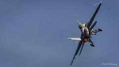 Making the Turn (ProPeak Photography) Tags: airshow airplane america blue fa18f hornet jet kittyhawkcv63 orange plane rhino usa