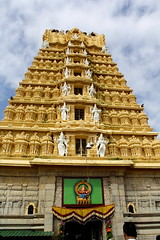 Chamundeswari Temple (amitava.das) Tags: mysore temple hill chamundeswari gopuram chamundi india karnataka dravidian architecture