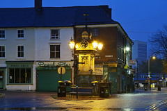 Dr Tonks's Clock, Willenhall 16/04/2017 (Gary S. Crutchley) Tags: willenhall uk great britain england united kingdom urban town townscape walsall walsallflickr walsallweb black country blackcountry staffordshire staffs west midlands westmidlands nikon d800 history heritage local night shot nightshot nightphoto nightphotograph image nightimage nightscape time after dark long exposure evening travel street slow shutter raw