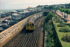 1987/09 - 23.  Ryde Tunnel. (Ron Fisher) Tags: pre36tubestock pre38tubestock standardtubestock islandline ryderail isleofwight emu electricmultipleunit train transport publictransport rail railway railroad eisenbahn chemindefer station gare bahnhof networksoutheast
