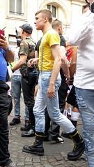 """bootsservice 17 1600652 (bootsservice) Tags: paris """"gay pride"""" """"marche des fiertés"""" bottes cuir boots leather sm motards motos motorcyclists motorbiker caoutchouc rubber uniforme uniform"""