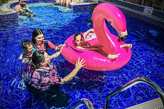 Flamingo (Melissa Maples) Tags: antalya turkey türkiye asia 土耳其 apple iphone iphone6 cameraphone summer doğan hotel blue swimmingpool pool water flamingo pooltoy family girls women daughters mother abigail dahlia amy