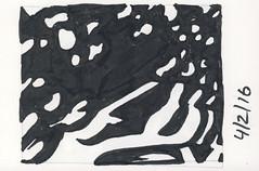 2016.04.02 Wavy (Julia L. Kay) Tags: ink paper brush pen brushpen bw black white monochrome shadow shadows silhouette juliakay julialkay julia kay artist artista artiste künstler art kunst peinture dessin arte woman female sanfrancisco san francisco daily everyday 365 botanical botany plant foliage splitleaf philodendron splitleafphilodendron sundances
