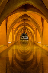 bassin souterain (Rudy Pilarski) Tags: reflection nikon tamron thebestoffnikon travel thepassionphotography 18270 voutes arche réflection couleur color colour séville espagne voyage
