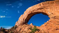 North Window Arch Landscaped (Wizum) Tags: 2017 archesnationalpark moab utah desert hike hiking landscape nature usa northwindowarch arch