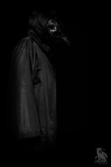 Beak Face (CJ Schmit) Tags: wwwcjschmitcom 5dmarkiii canon canon5dmarkiii cjschmit cjschmitphotography canonef50mmf18ii photographermilwaukee milwaukeephotographer photographerwisconsin racine racinewisconsin dragonspitstudios beakface plaguedoctor robe mask dark scary haunting plague mystical erie paulcbuff51 white plmdigibee db800cybersyncmonochromeblackandwhitebwnik analog efex 2project merula caledonia wisconsin