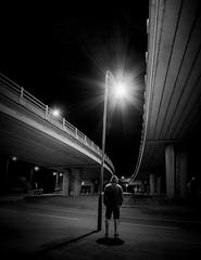Charlie Says (TS446Photo) Tags: street night light person lamp post road bridge