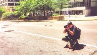 The Photographer One Person Full Length Real People Lifestyles Crouching Outdoors Day Sitting Men Young Adult Tree Young Women City Nature People Adult Adults Only