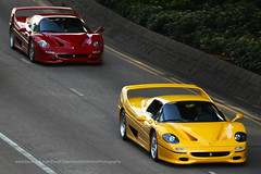 Ferarri, F50 x 2, Wan Chai, Hong Kong (Daryl Chapman Photography) Tags: ferrari f50 italian wanchai supercar panning pan edp yellow red stunning car cars auto autos automobile canon eos 1d mkiv is ii 70200l f28 road engine power nice wheels rims hongkong china sar drive drivers driving fast grip photoshop cs6 windows darylchapman automotive photography hk hkg bhp horsepower brakes gas fuel petrol topgear headlights worldcars daryl chapman darylchapmanphotography