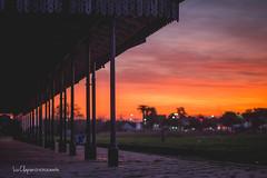 Concepción Del Uruguay (Liz Clapier) Tags: colours nature oranje naranja sun sol sunset atardecer atardece uruguay concepciondeluruguay argentina entrerios contraste sky cielo contraluz estacion vias travel