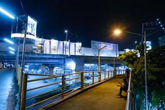 Alabang Footbridge (bryanshoots) Tags: urban night city lights alabang muntinlupa philippines panasonic lumix lx100 street streetphotography