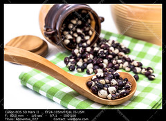 Black and white beans (__Viledevil__) Tags: agriculture bean ceramic composition delicious dry food grain group healthy heap ingredient jar legume nutrition organic pattern pile raw seed spoon uncooked vegetable wooden