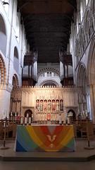 St Albans Cathedral altar, Hertfordshire (Pjposullivan1) Tags: stalbanscathedral stalbans formerabbey anglican altar reredos organ