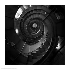 The Lighthouse / Glasgow, Scotland, UK (Andrew James Howe) Tags: andrewhowe architecture abstract blackandwhite buildings design engineering fineart glasgow interior light mono nikon spiral square stairs charlesrenniemackintosh thelighthouse