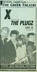 X and THE PLUGZ @ THE GREEK THEATRE, LOS ANGELES 1981 (Superbawestside1980) Tags: x the plugz la punk billy zoom dj bonebrake exene john doe tito larriva