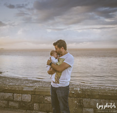 Proud Dad (lpg_photos) Tags: father family portishead sea clouds sunset dusk