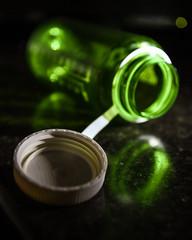 170701-bottle-water-open-green.jpg (r.nial.bradshaw) Tags: bottle waterbottle empty lowkey green