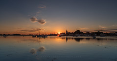 DumbBell? (Visible Landscape) Tags: bosham boats sunset reflection visiblelandscape clouds uk england westsussex chichesterharbour