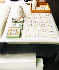 "Tony DeVarco & Mayako Nakamura ""ReGenerations"" at Marta Hewett Gallery (mayakonakamura) Tags: tonydevarco regenerations collaboration mayakonakamura tokyo sanfrancisco abstract painting photomontage acrylic paper twopersonshow exhibition martahewettgallery cincinnati ohio usa artiststalk greentea obi kimono cookies"