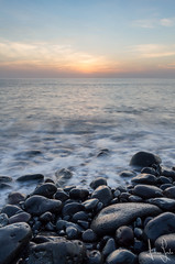 Teneriffa (Andreas Lesch) Tags: teneriffa meer brandung steine wasser sonnenuntergang abend wolken horizont naturfotografie natur landschaft landscape landschaftsfotografie urlaub