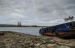 Rosehaugh (Scozmo's Photery - On my phone weekdays) Tags: wreck rust scotland nigg cromarty slipway sea rig bay