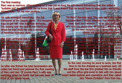 The new job (Marie-Christine.TV) Tags: feminine transvestite lady mariechristine secretary skirtsuit businesssuit sekretärin kostüm businesslady fantasy job interview