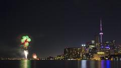 Toronto Canada 150 Harbourfront Fireworks (KenH_liquidfire) Tags: canada150celebrations canadaday fireworks torontoskyline toronto cntower cityskyline nightphotography polsonpier