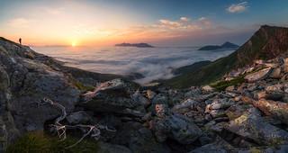 Atardecer desde el Pico Tres Mares