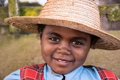 Malagasy Girl (Rod Waddington) Tags: africa afrique madagascar malagasy girl child hat portrait people outdoor face cultural
